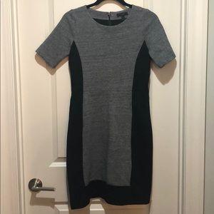 Super slimming gray and black dress